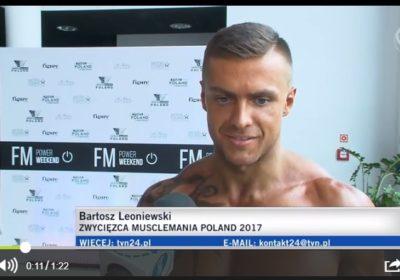 Zwycięzca Musclemania Poland 2017 w wywiadzie dla TVN 24